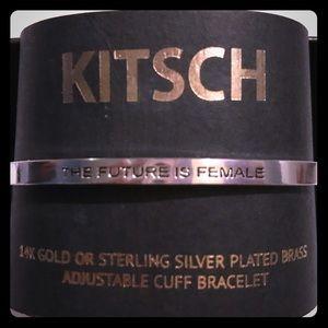KITSCH Sterling Silver Plated Brass Cuff